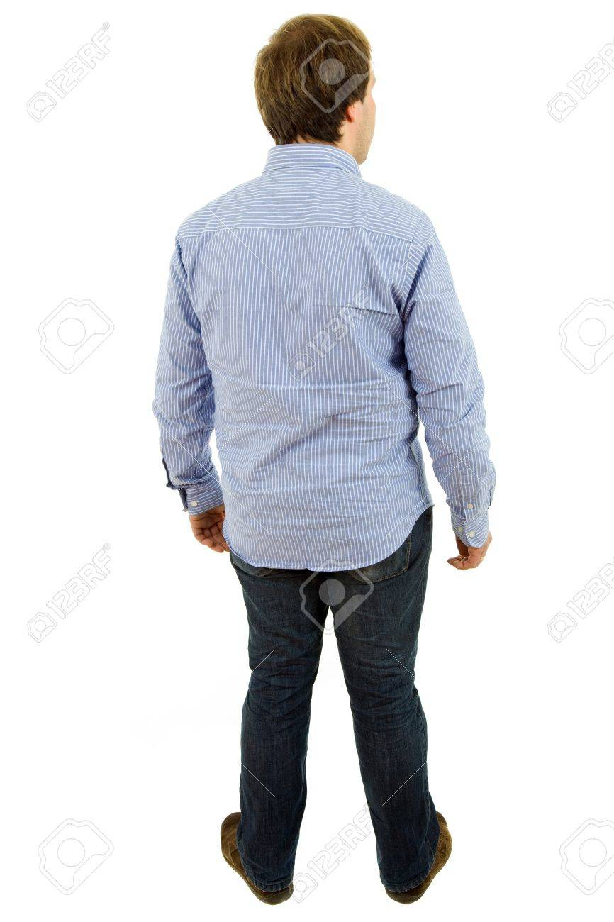 young casual man full body in a white background Stock Photo - 8718995