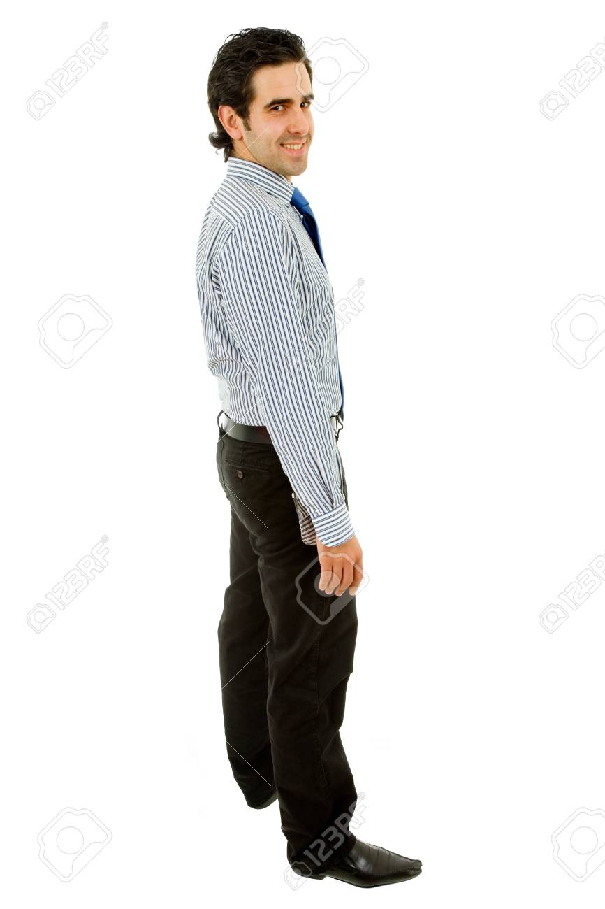 young business man full body isolated on white background Stock Photo - 9438241
