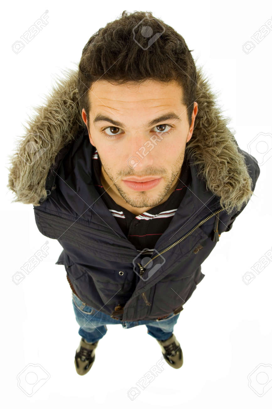 young casual man full body, isolated on white Stock Photo - 9618328
