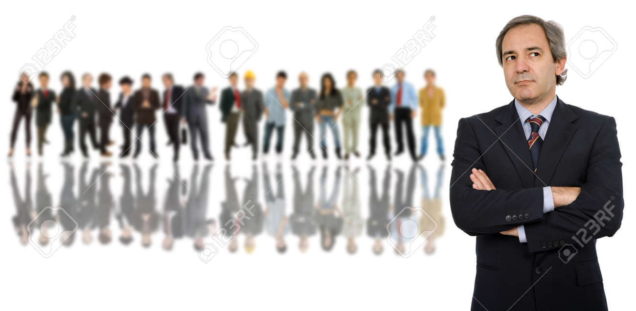business man in front of a group of people Stock Photo - 9618383