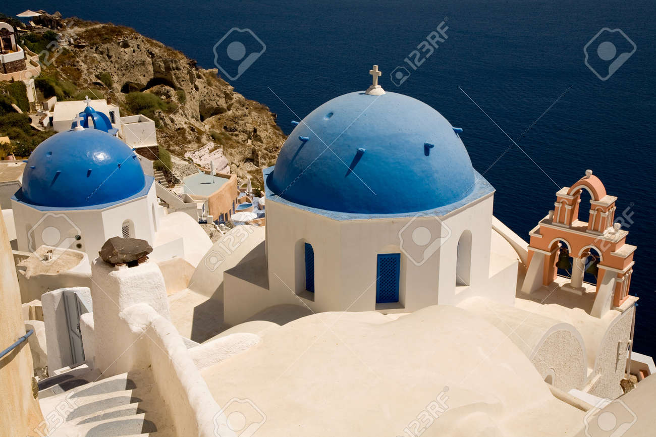 Thira view from the top at the island of Santorini, Greece Stock Photo - 9731769