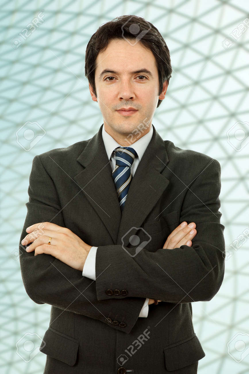 young business man portrait at the office Stock Photo - 10419193
