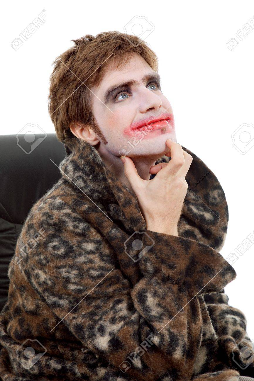 young man dressed as joker, isolated on white Stock Photo - 12110641