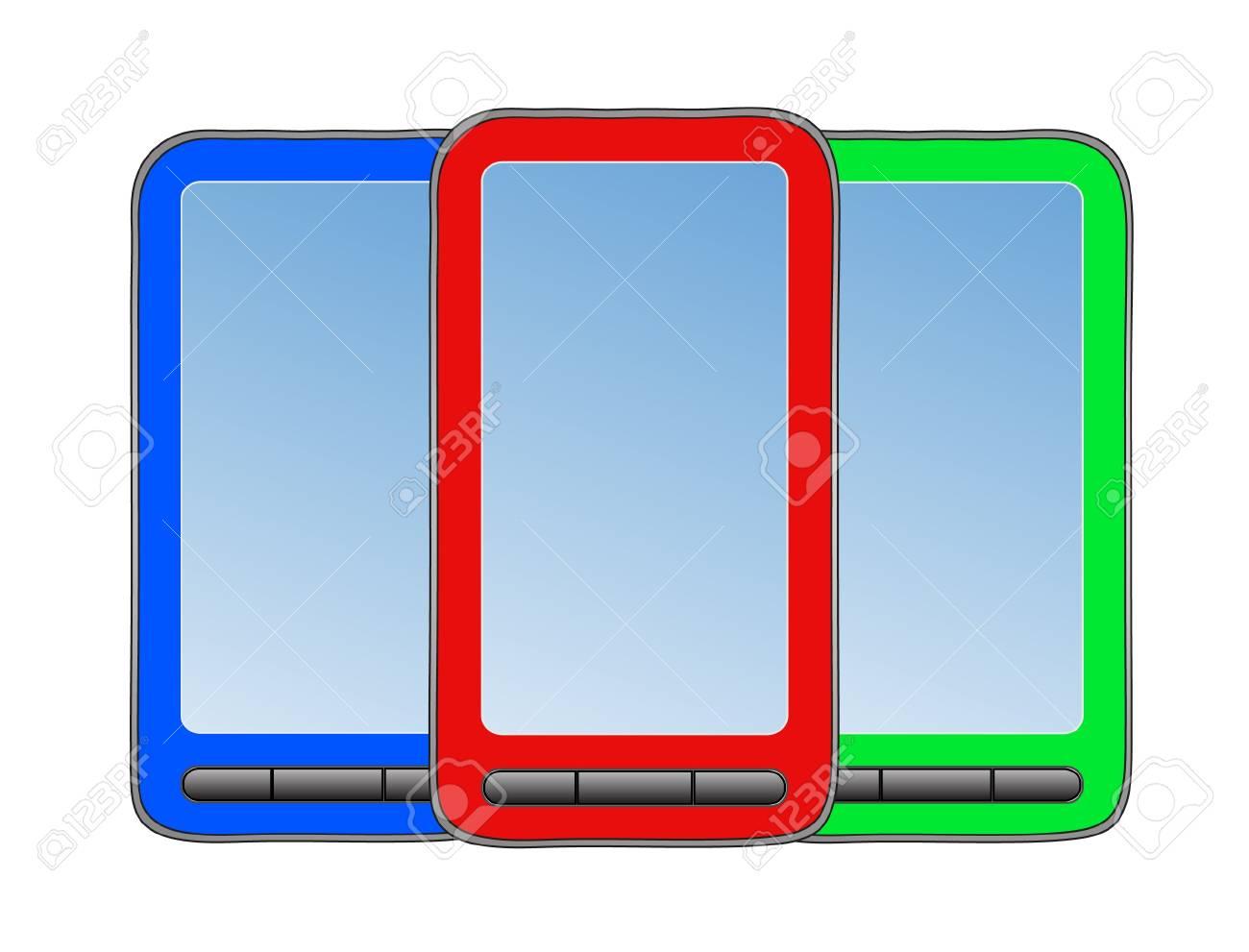 Three phone on white background. Stock Vector - 10030223