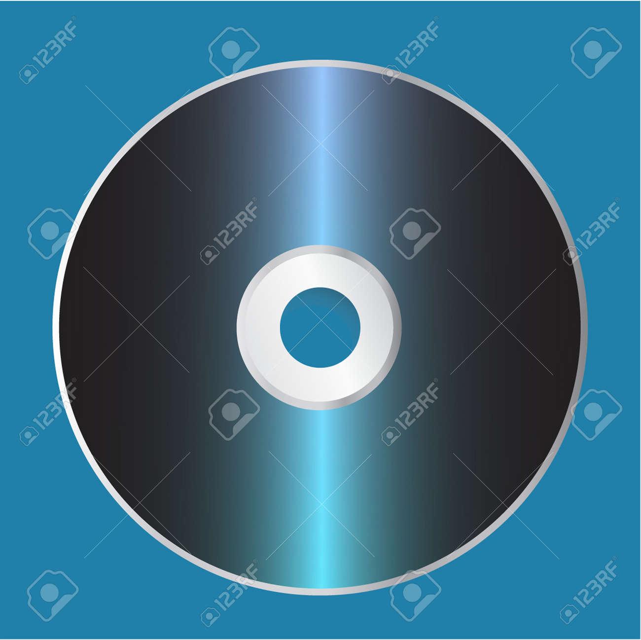 Plantilla De Disco CD En Blanco. Ilustración Vectorial Ilustraciones ...