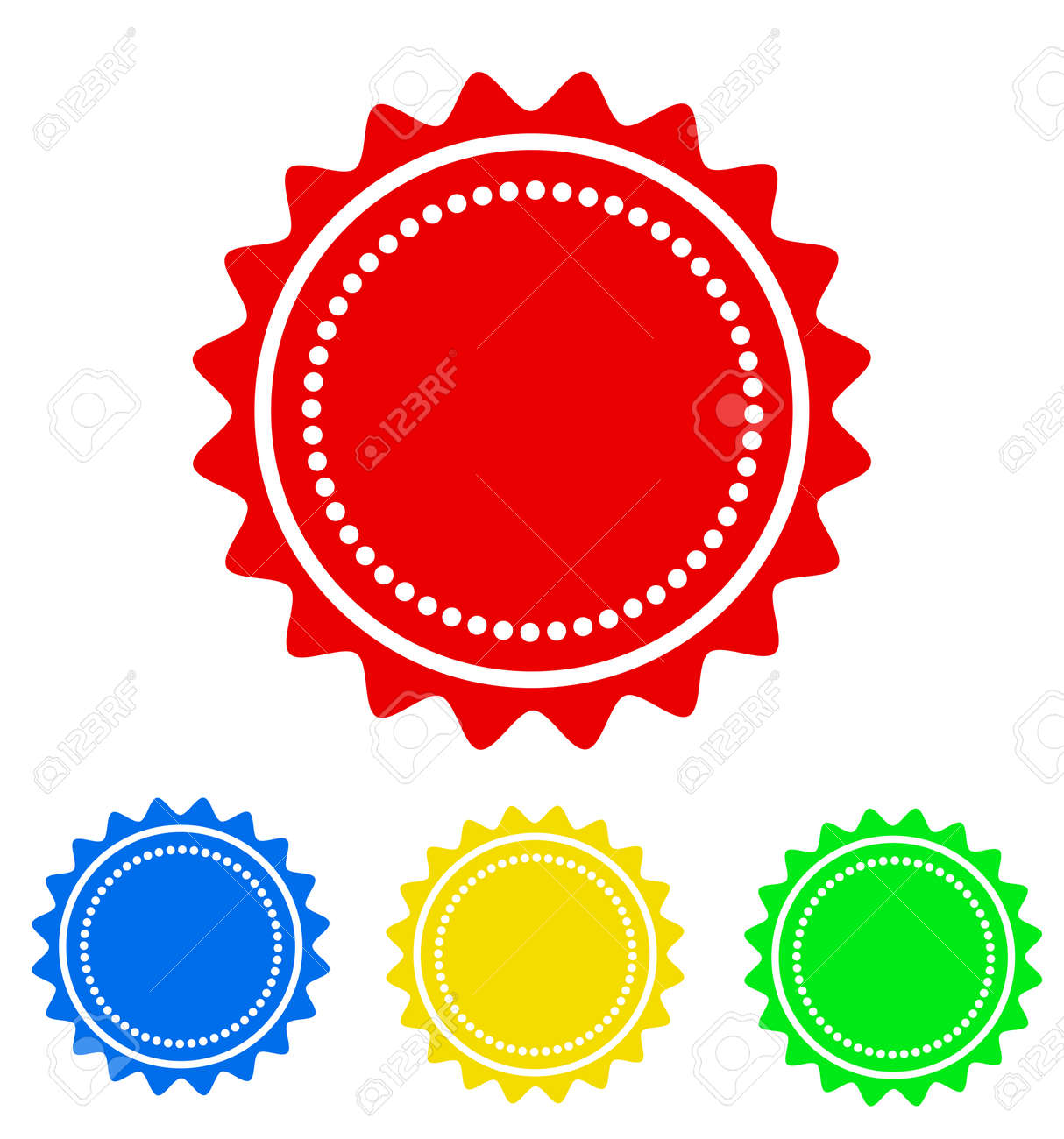 colorful round badge icon for your design stock vector