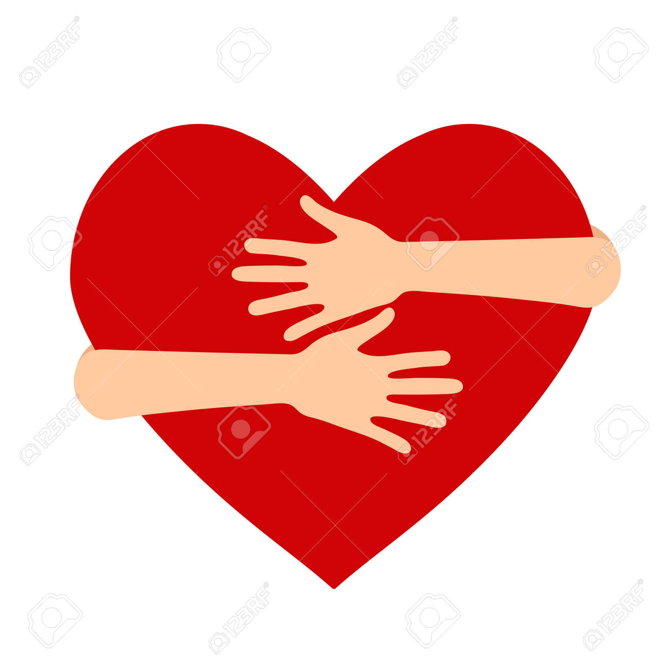 Vector illustration on the theme of National Hug Day - 124971503