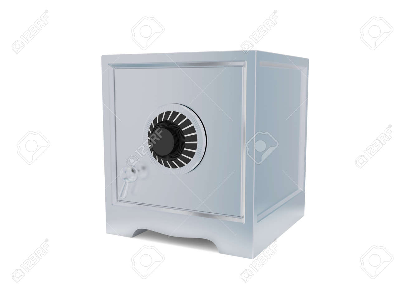 Iron safe isolated on white background. 3d rendered. Stock Photo - 12169443
