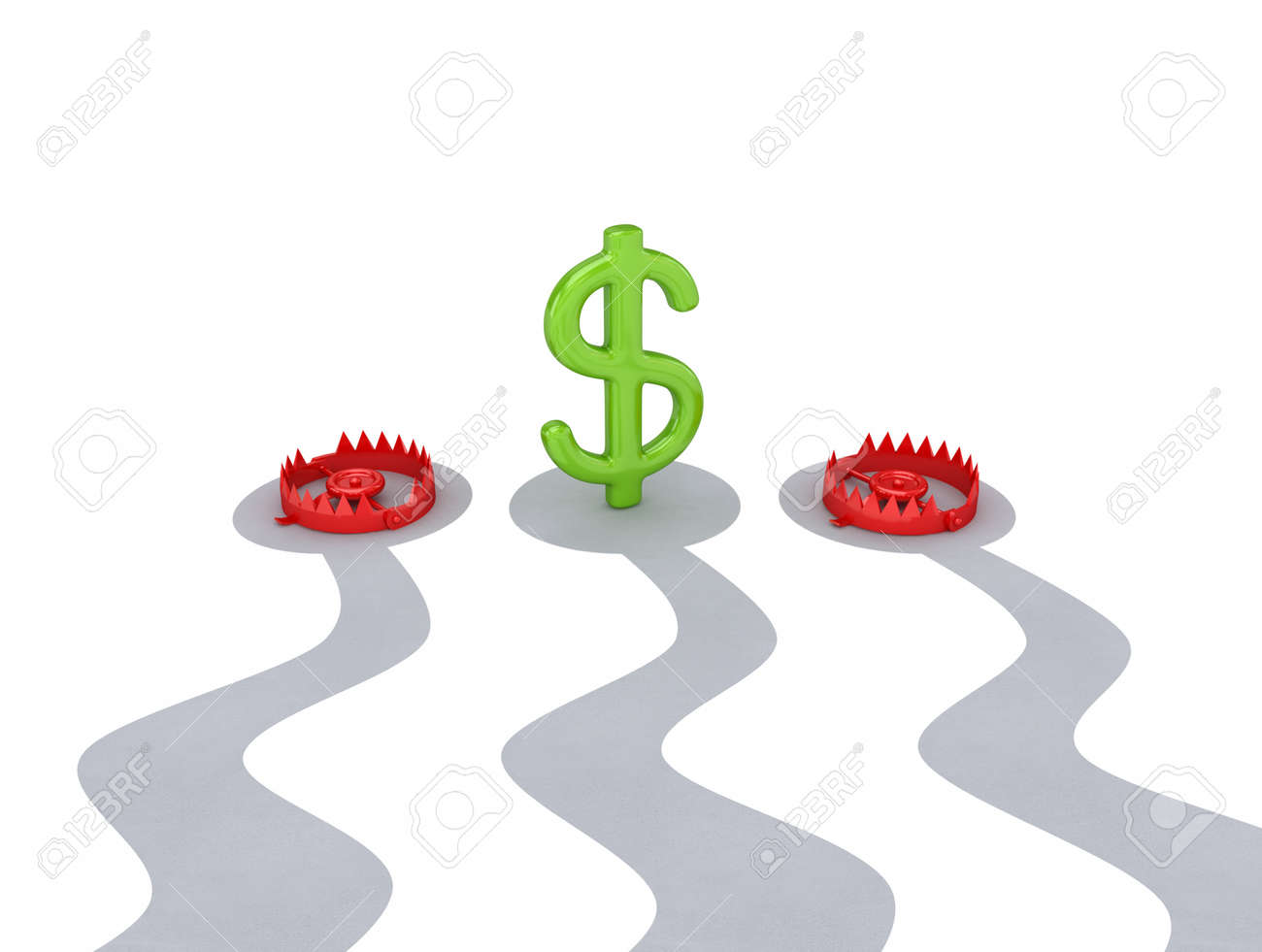 Profit concept. Isolated on white background.3d rendered. Stock Photo - 12224335