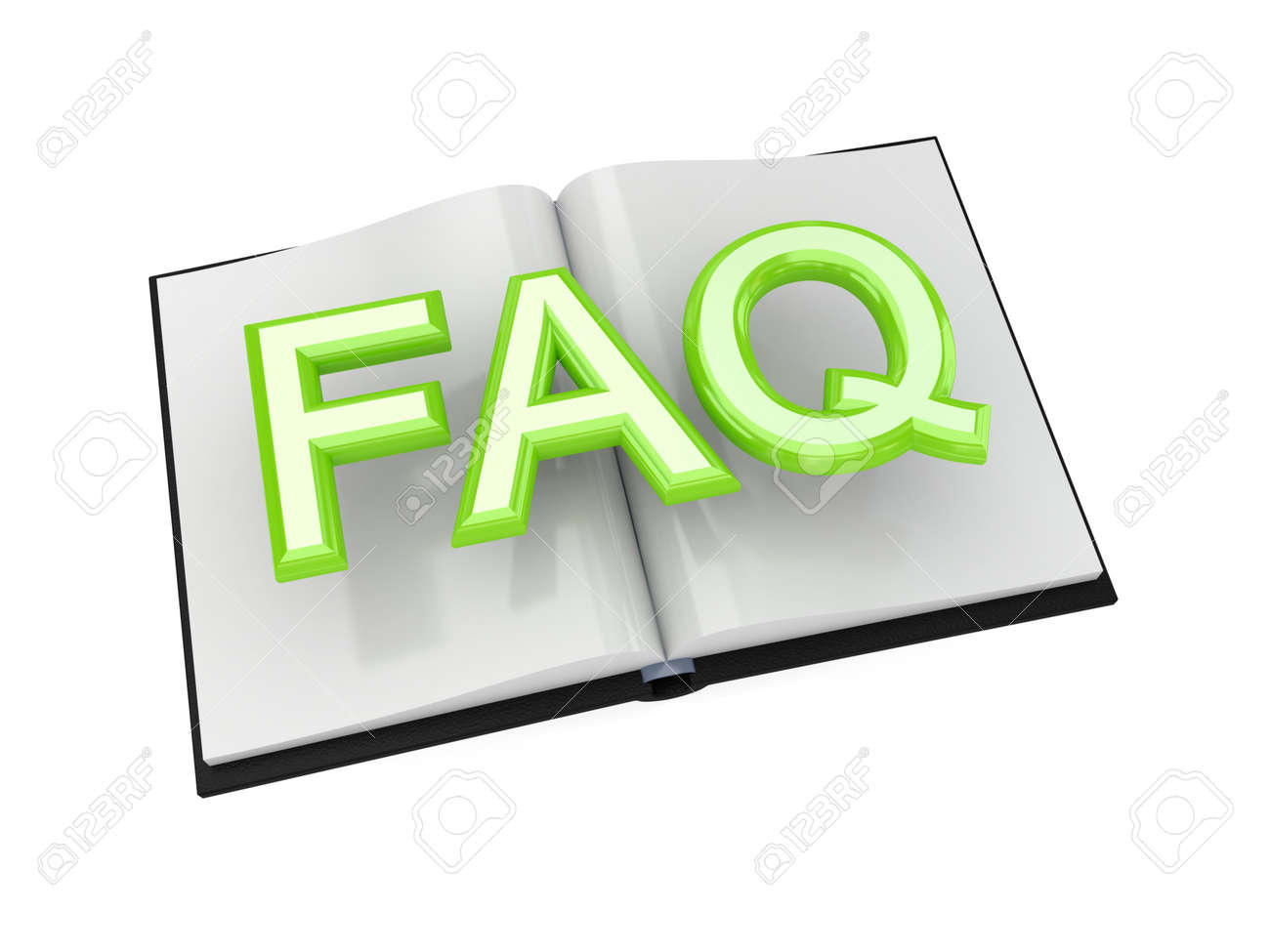 FAQ symbol. 3d rendered.Isolated on white background. Stock Photo - 12171032