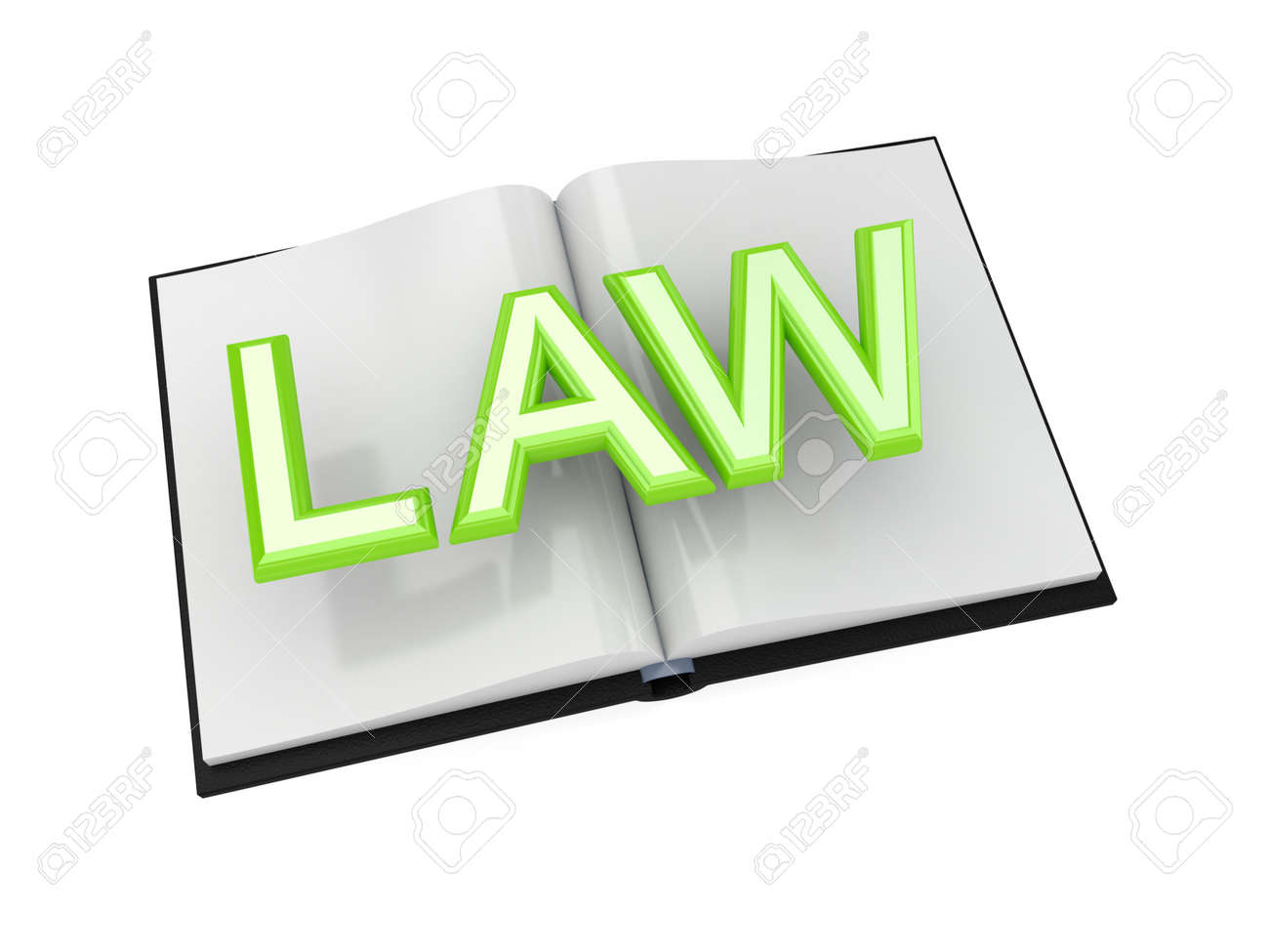 Book of Law concept.3d rendered.Isolated on white background. Stock Photo - 12170351