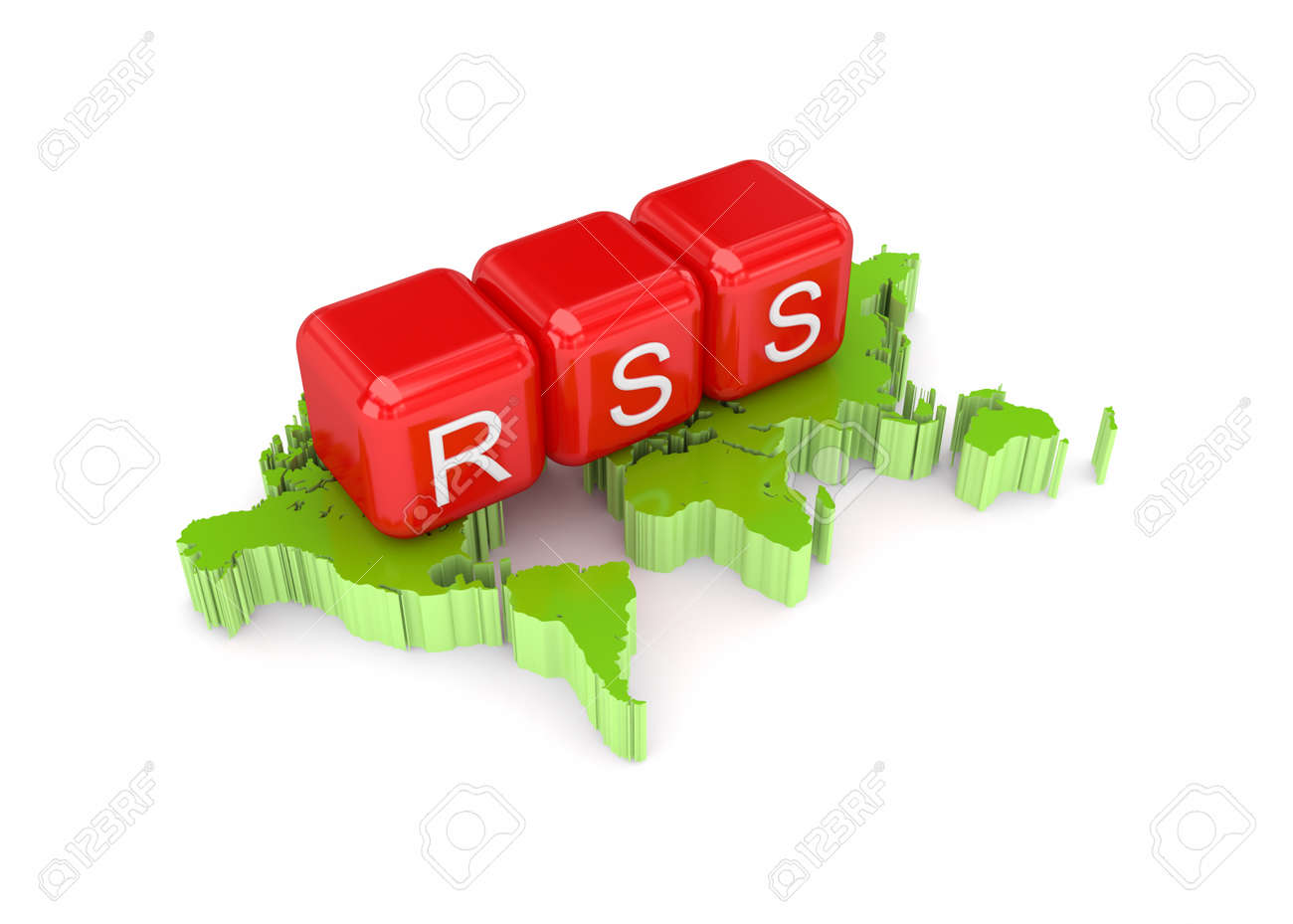 RSS concept. Isolated on white background.3d rendered. Stock Photo - 12222959
