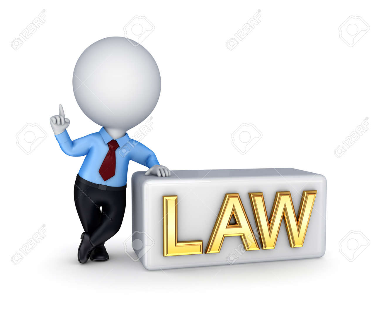 LAW concept.Isolated on white background. 3d rendered. Stock Photo - 12222716