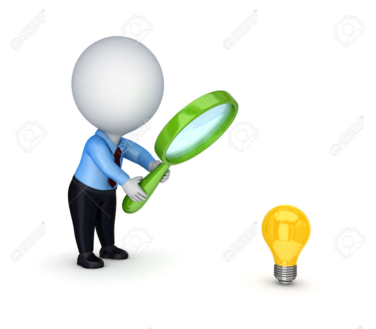 Looking for idea.Isolated on white background.3d rendered. Stock Photo - 12220089