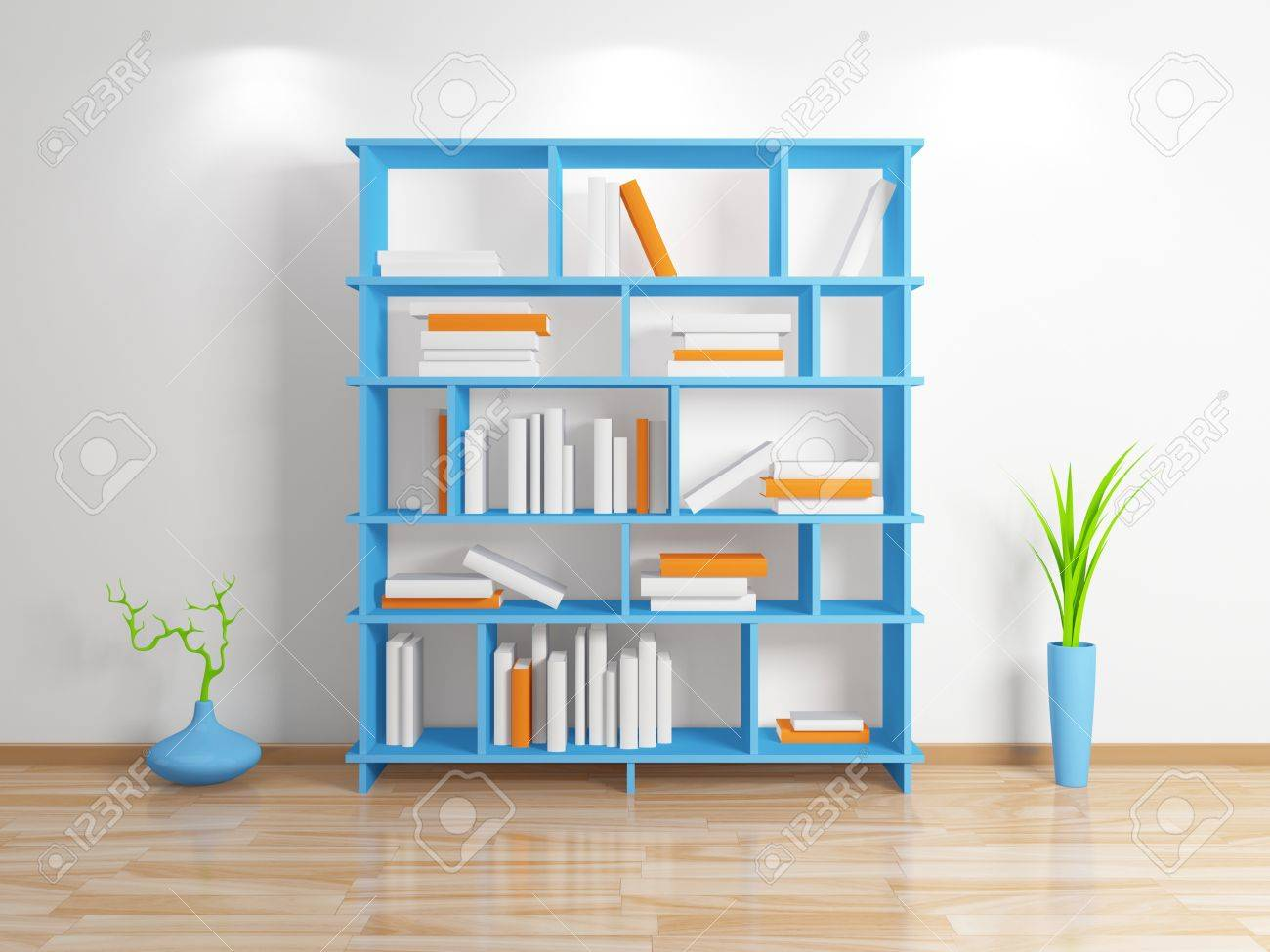 Modern Bookshelf Stock Photo Picture And Royalty Free Image