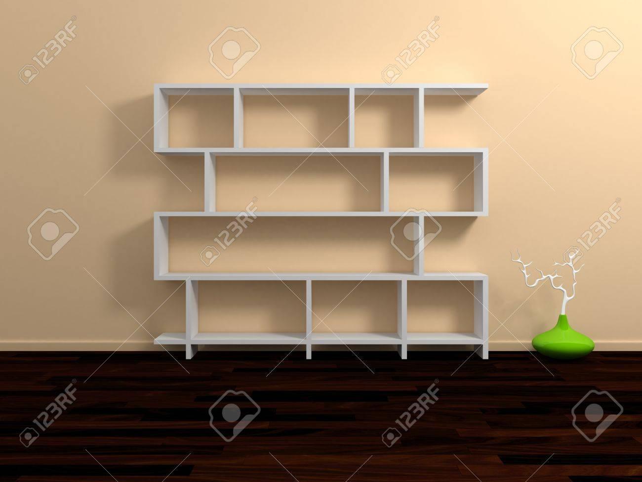 Modern shelves Stock Photo - 13942399