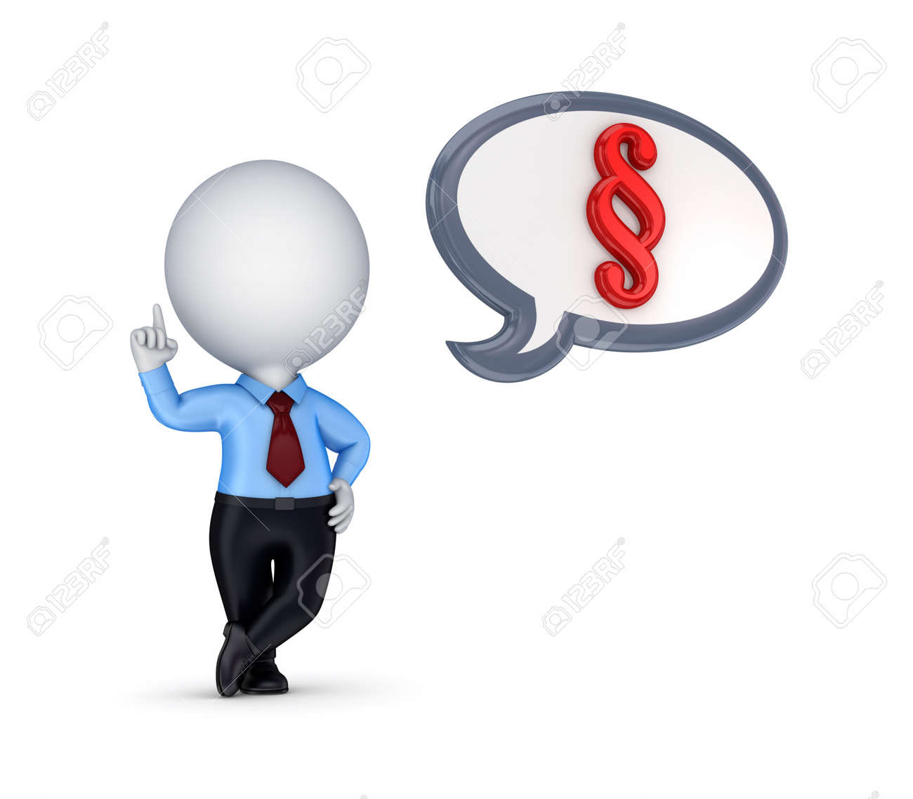 3d small person and paragraph symbol Stock Photo - 14097460