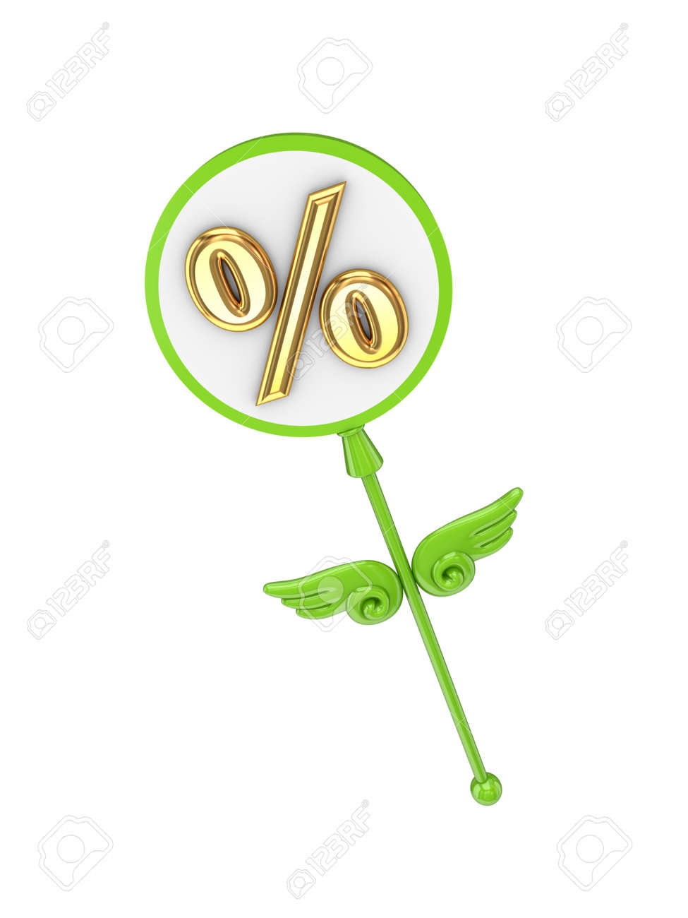 Magic wand with percents symbol Stock Photo - 14451967