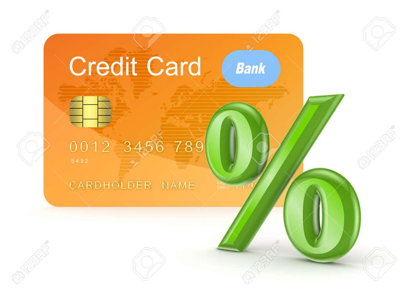 Credit card and percents symbol Stock Photo - 15654654