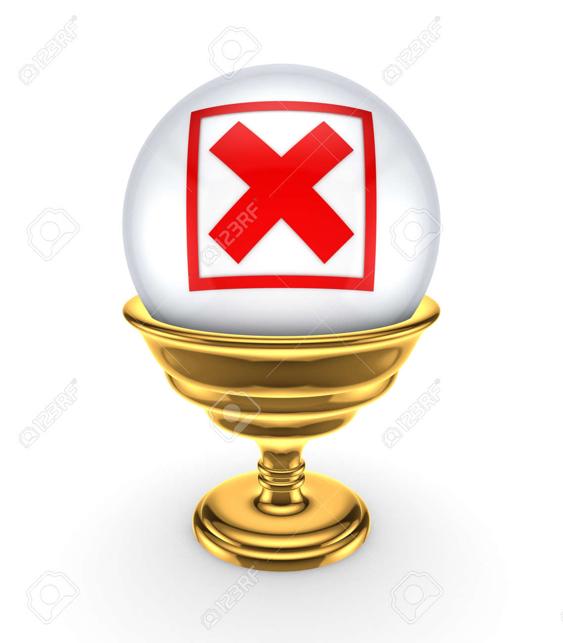 Red cross mark on a white sphere Stock Photo - 15666931