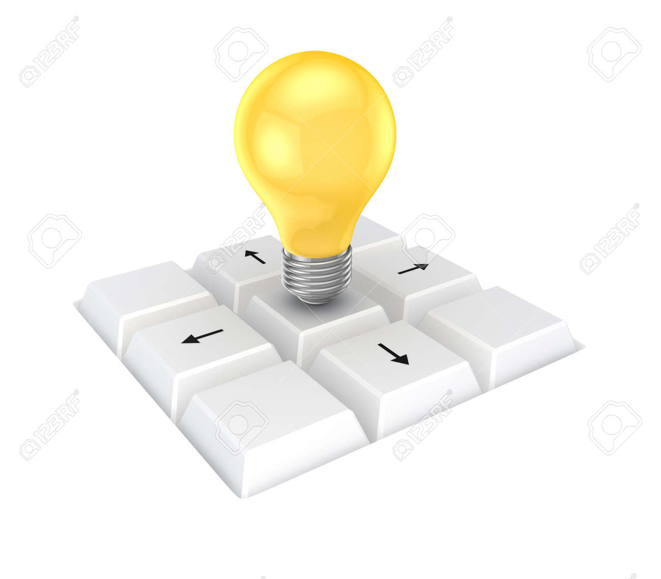 Lamp on a keyboard Stock Photo - 15667676