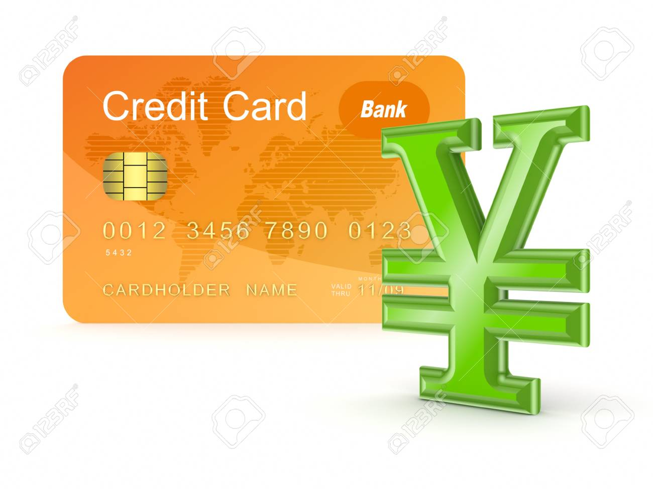 Credit card with Yen symbol Stock Photo - 17653322