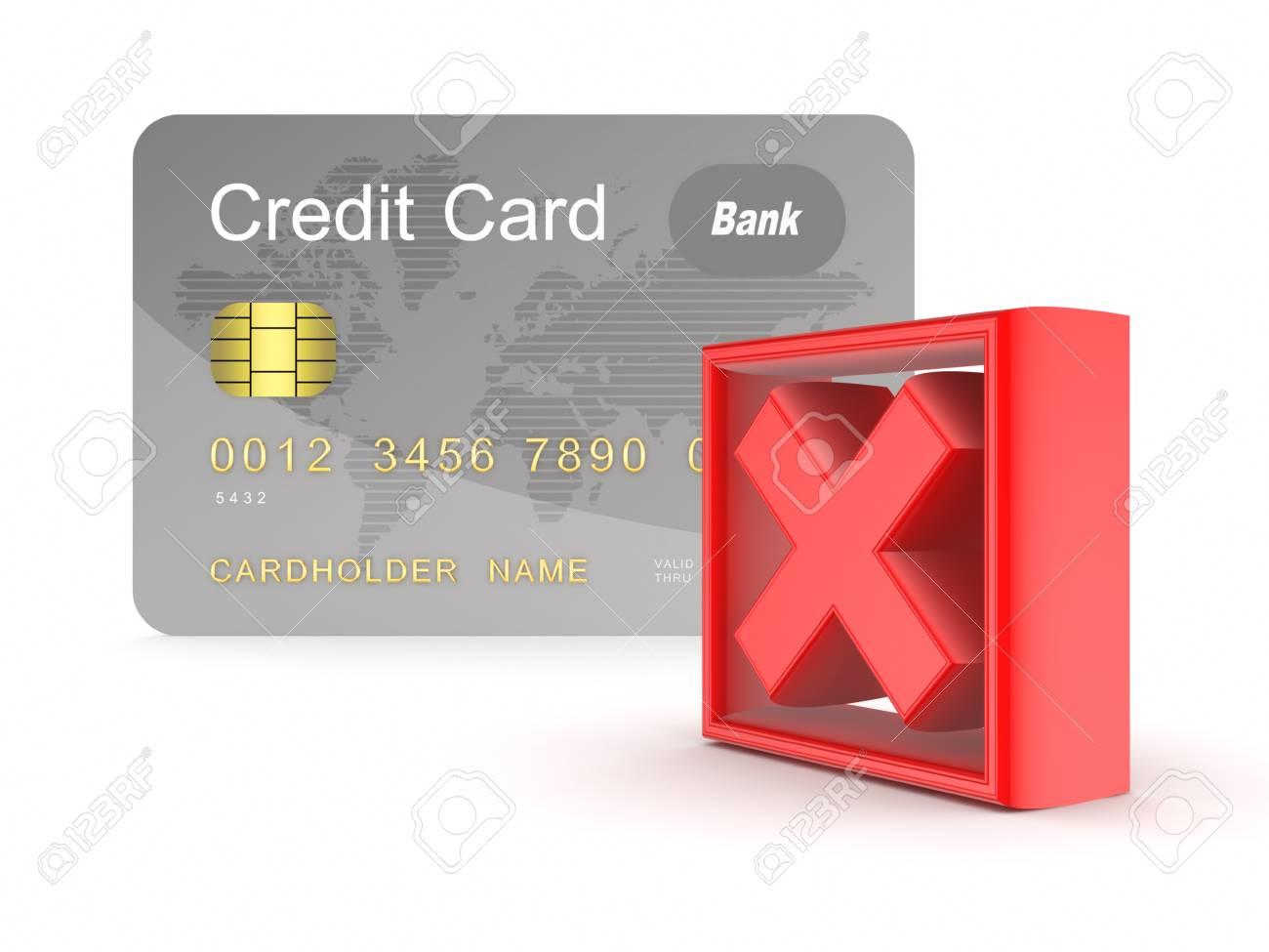 Carte De Credit Et La Croix Rouge Marque Banque D Images Et Photos Libres De Droits Image 17866649