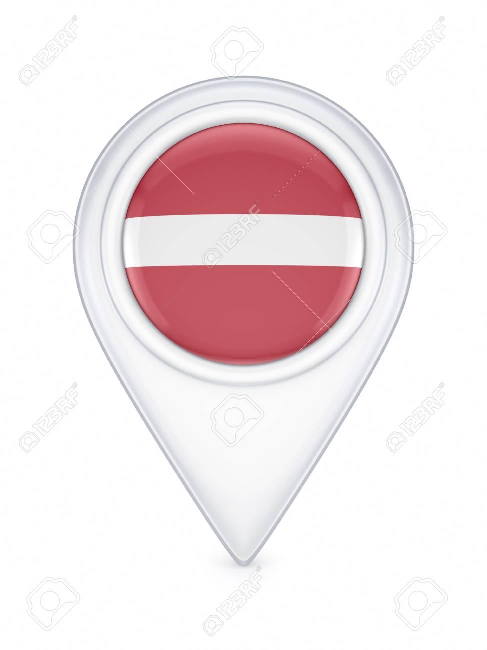 ラトビアの国旗のアイコン ロイ...
