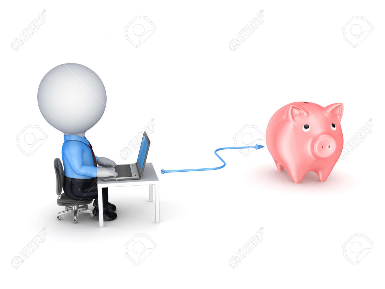 Online banking concept Stock Photo - 19539000