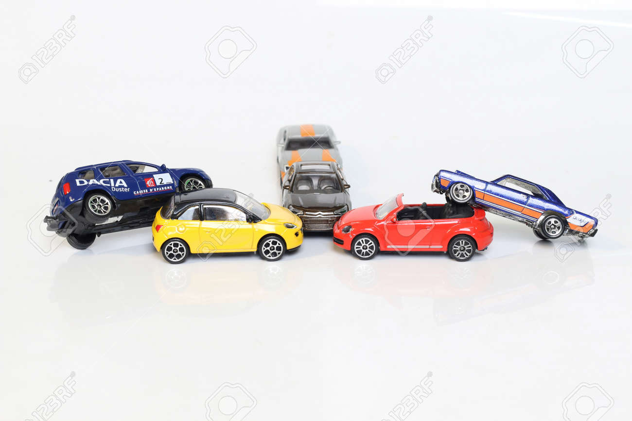 Toy Car Accident Crash Stock Photo Picture And Royalty Free Image