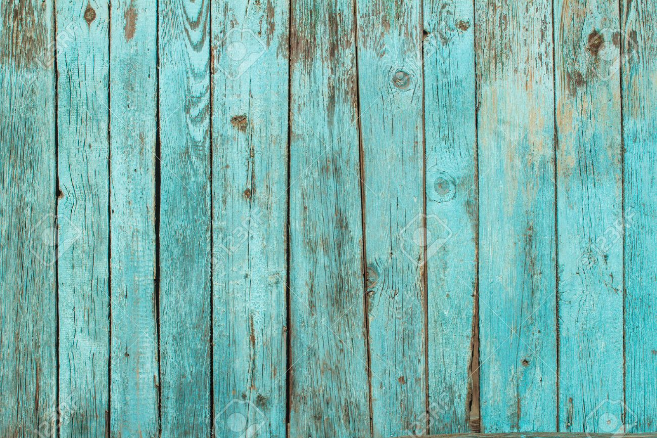 battered old wooden blue wall background texture stock photo