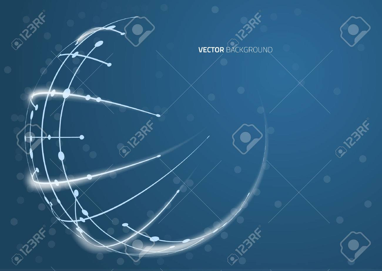 Abstract image of a globe lines. Vector - 51767951
