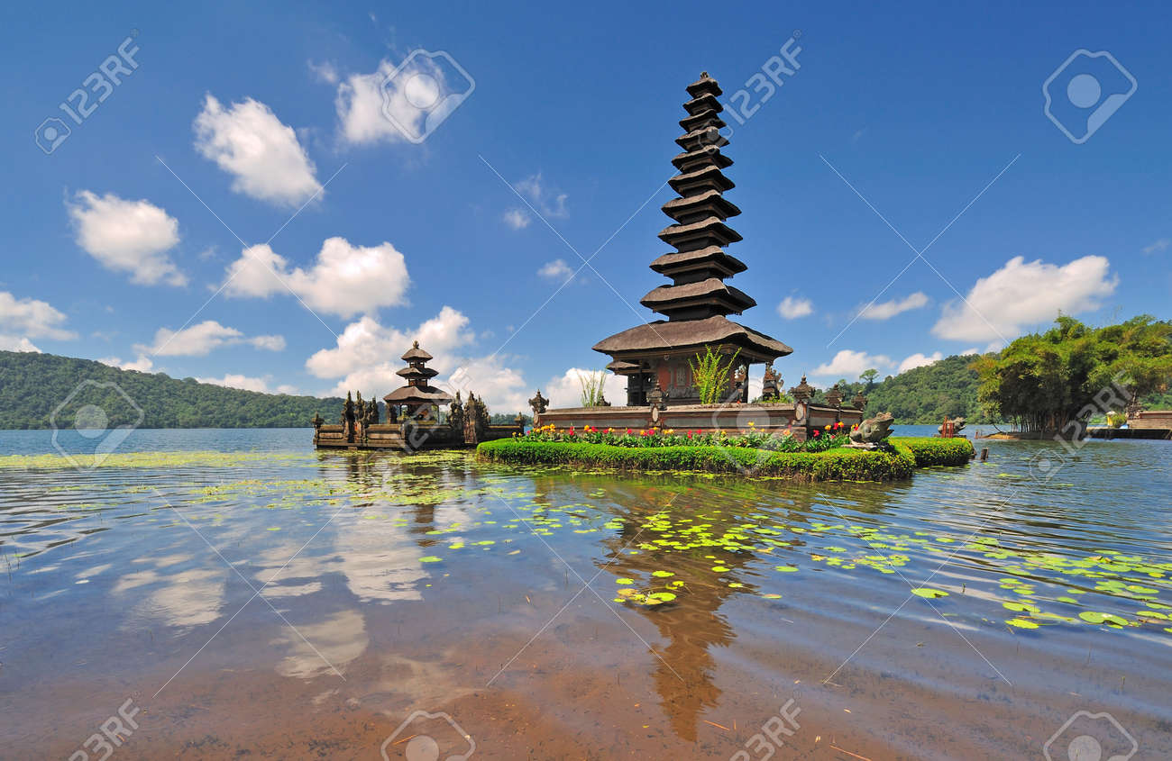 Floating Temple Located Lake Beratan In Bali Indonesia Stock Photo - Where is bali located