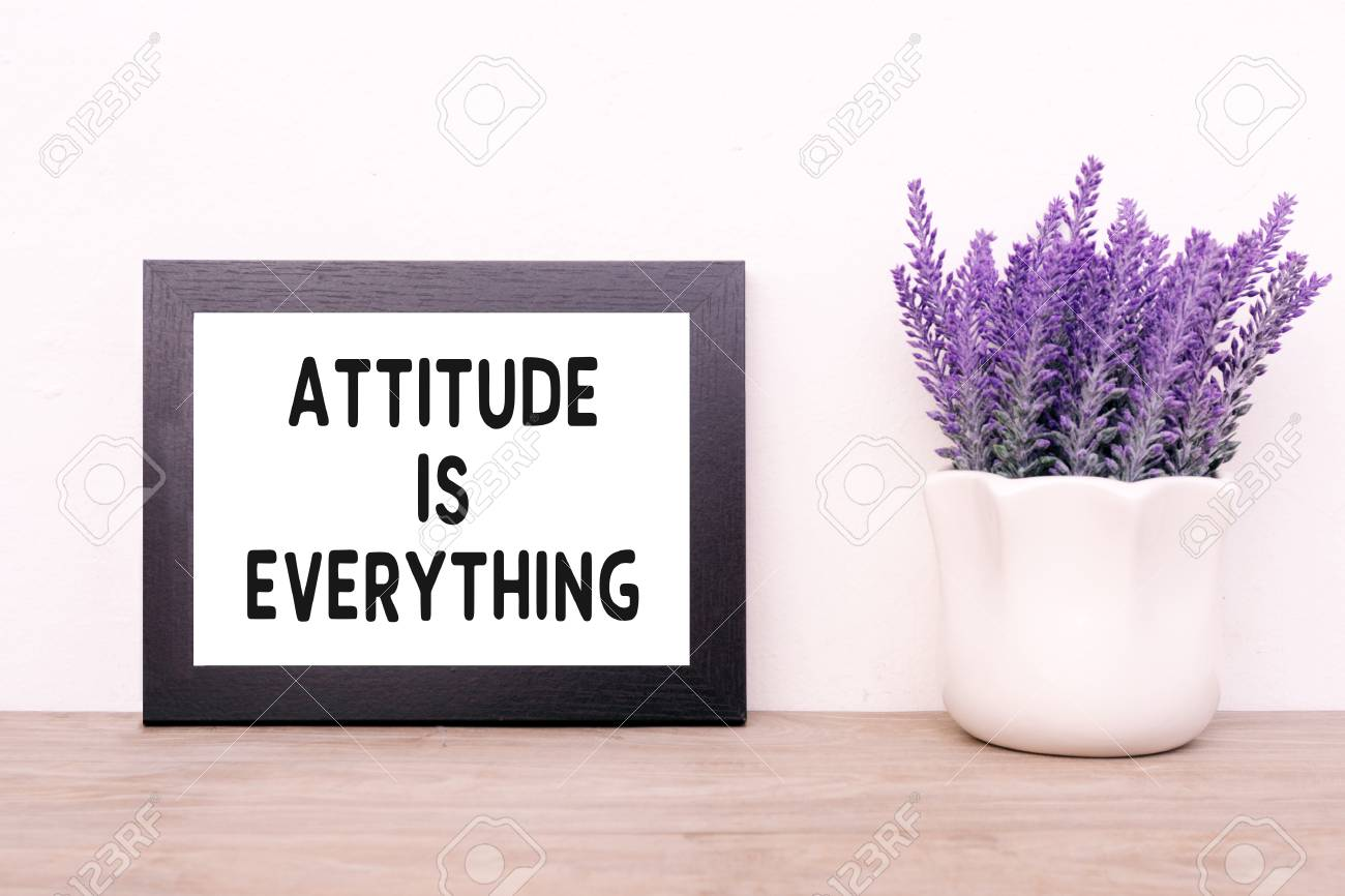 Inspirational Quotes Attitude Is Everything Faded Tone And Stock Photo Picture And Royalty Free Image Image 88170532