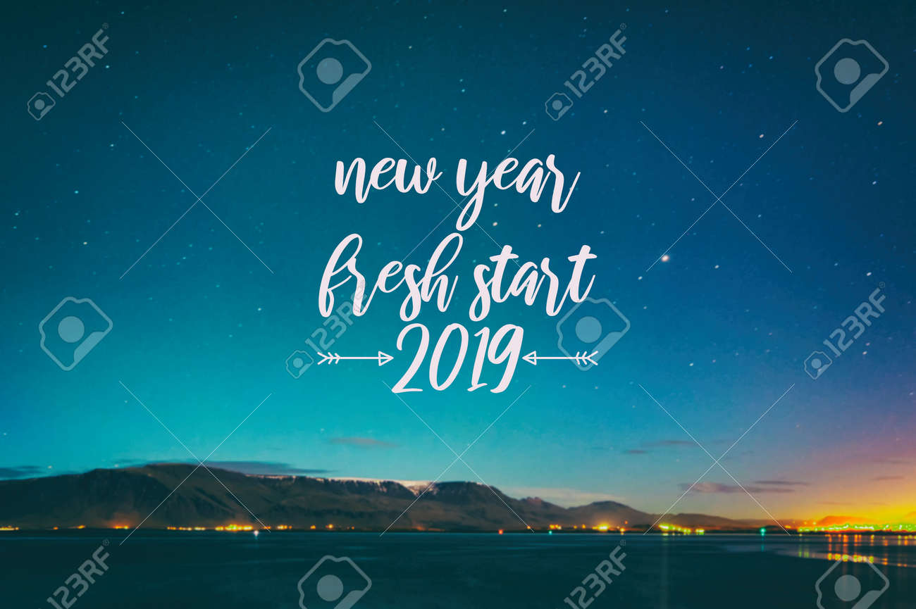 inspirational quotes new year fresh start stock photo