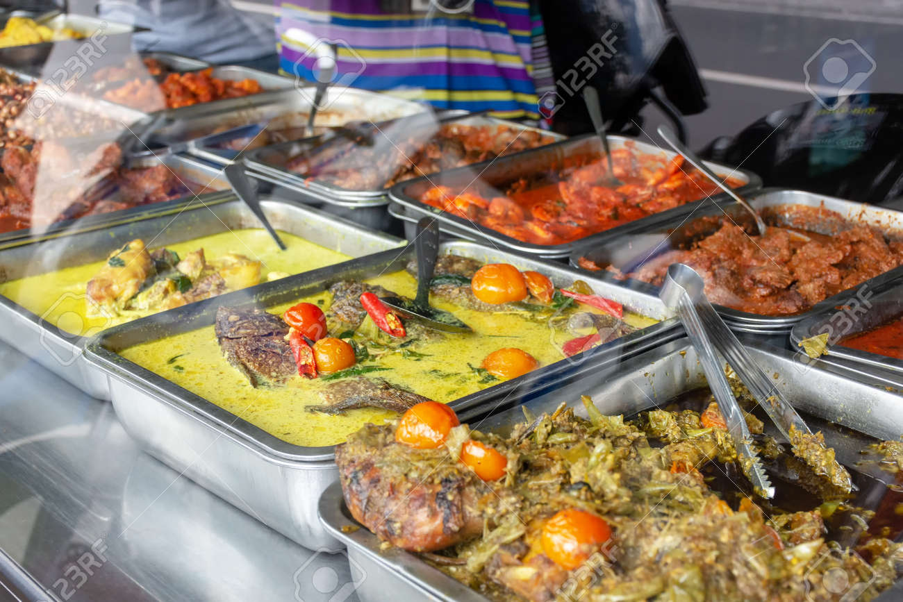 Amazing Indonesian Food Buffet Dishes Consist Of Meat Chicken Seafood And Vegetables At Javanese Restaurant In Bali Download Free Architecture Designs Scobabritishbridgeorg