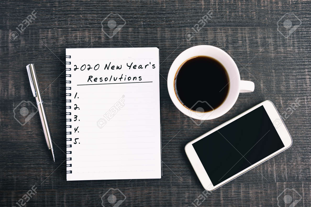 New Years Resolutions 2020.New Year Resolution Concept 2020 New Year S Resolutions Text