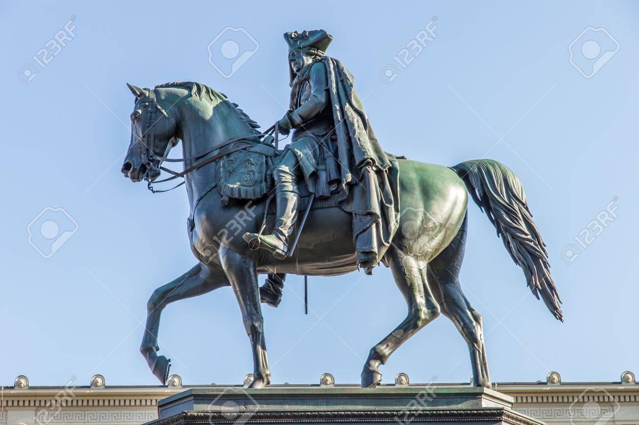 Statue of king Frederick II in Berlin Stock Photo - 13732962