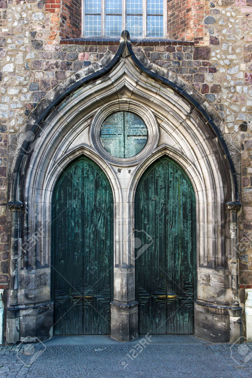 Gothic church gate with metal doors Stock Photo - 13792801 & Gothic Church Gate With Metal Doors Stock Photo Picture And ... Pezcame.Com