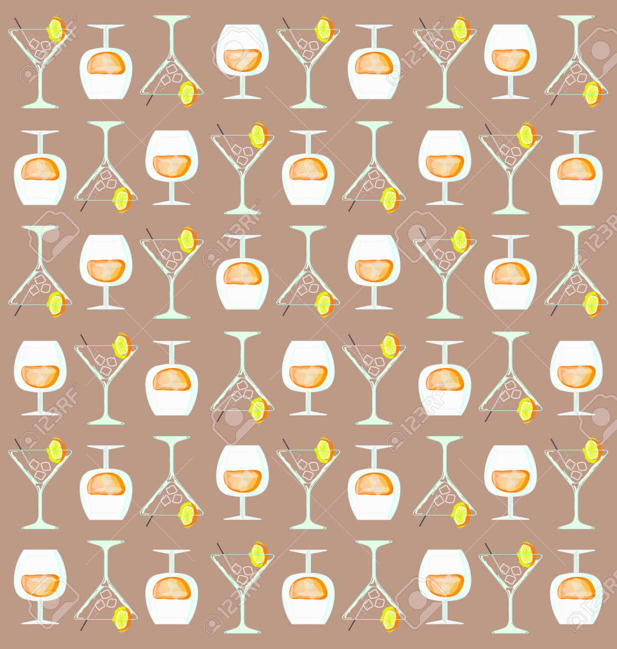 background with coctail glass Stock Vector - 7903171