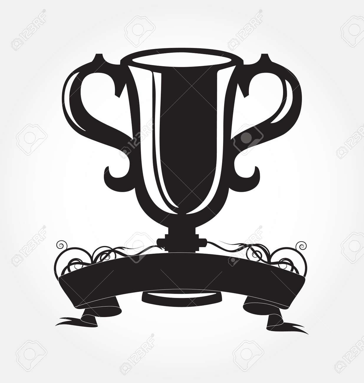 black cup of the winner Stock Vector - 8197066