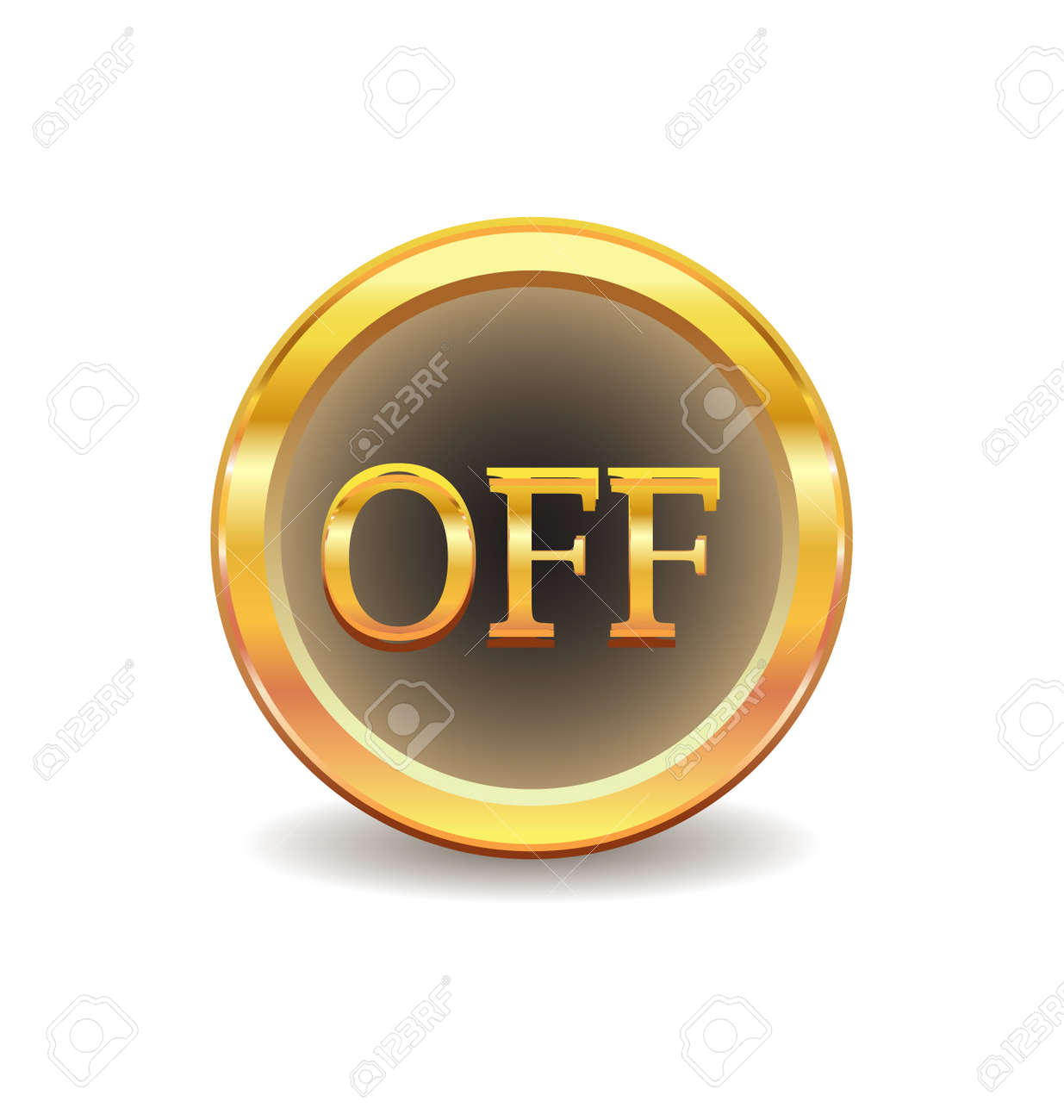 turn off button Stock Vector - 8313466