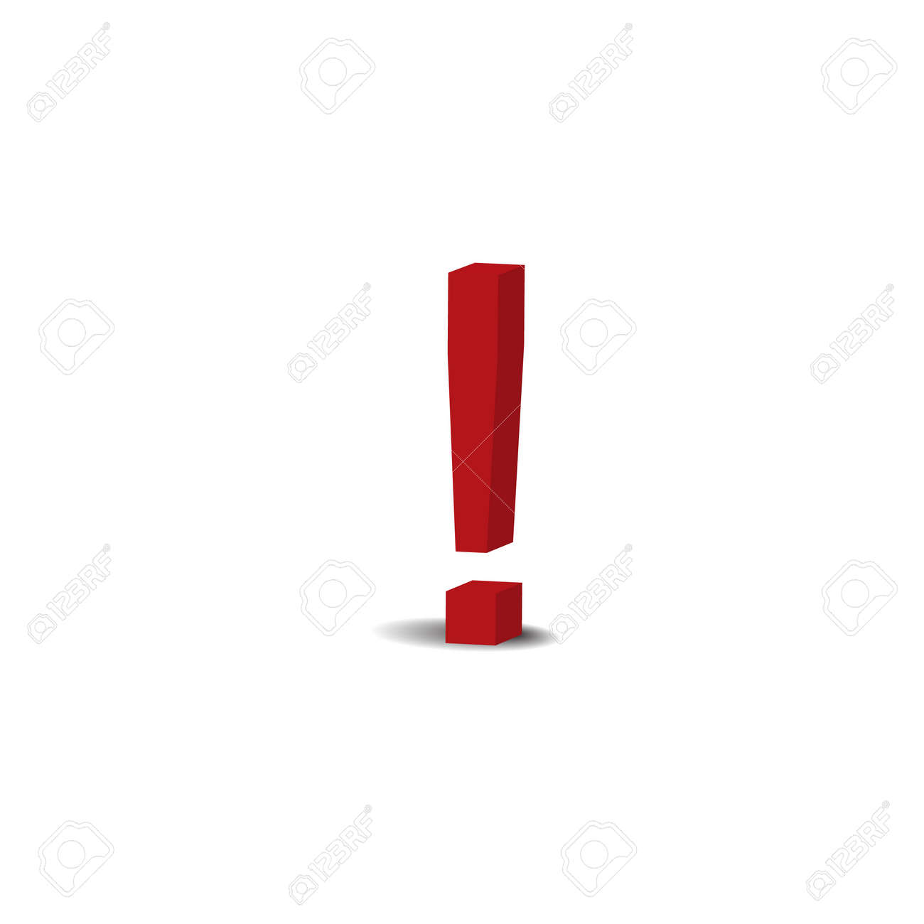 red exclamation sign Stock Vector - 8535455