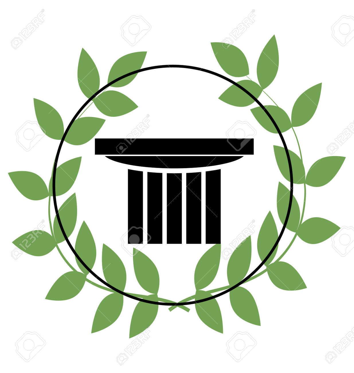 Icon With Greek Symbols Royalty Free Cliparts Vectors And Stock