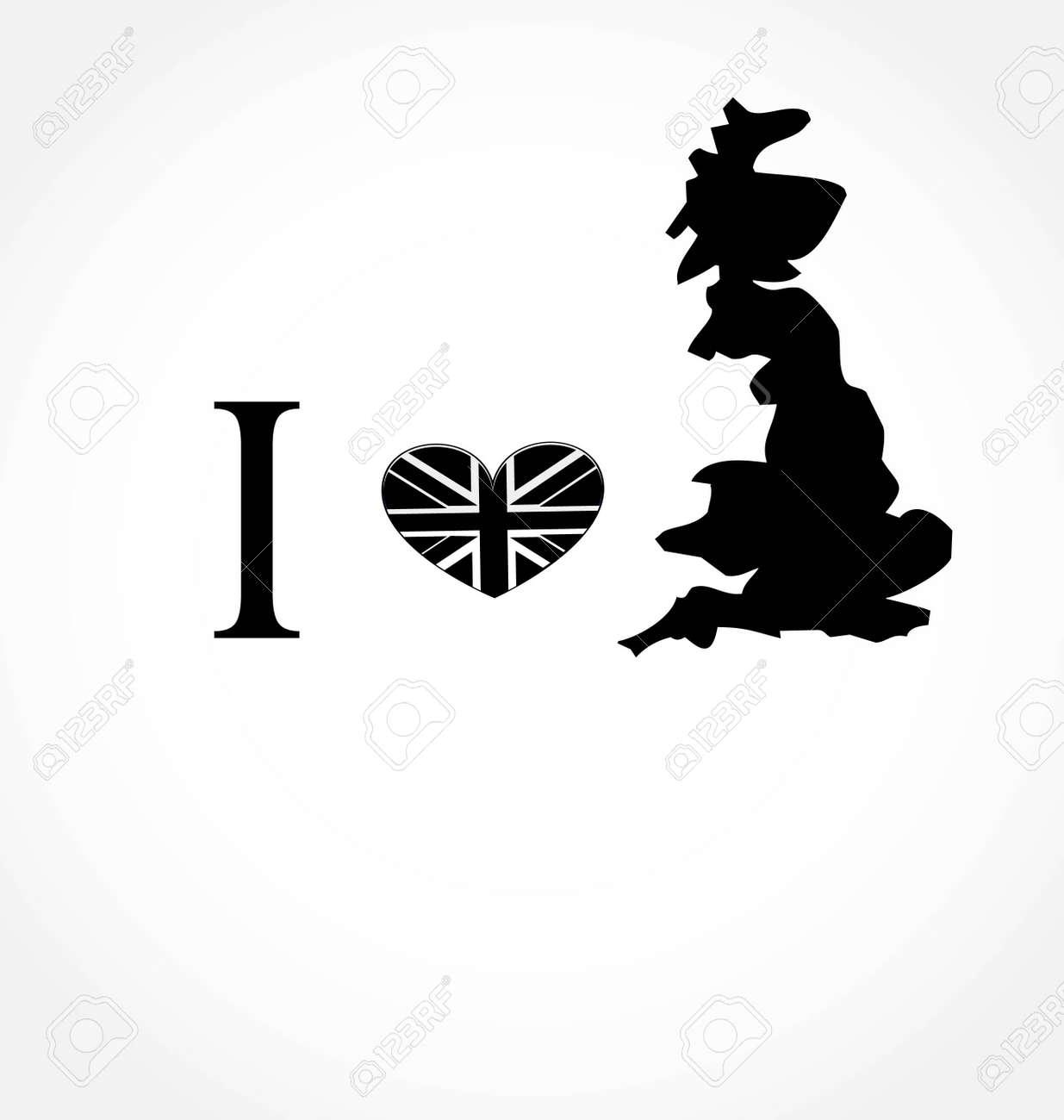 i love UK Stock Vector - 9315270