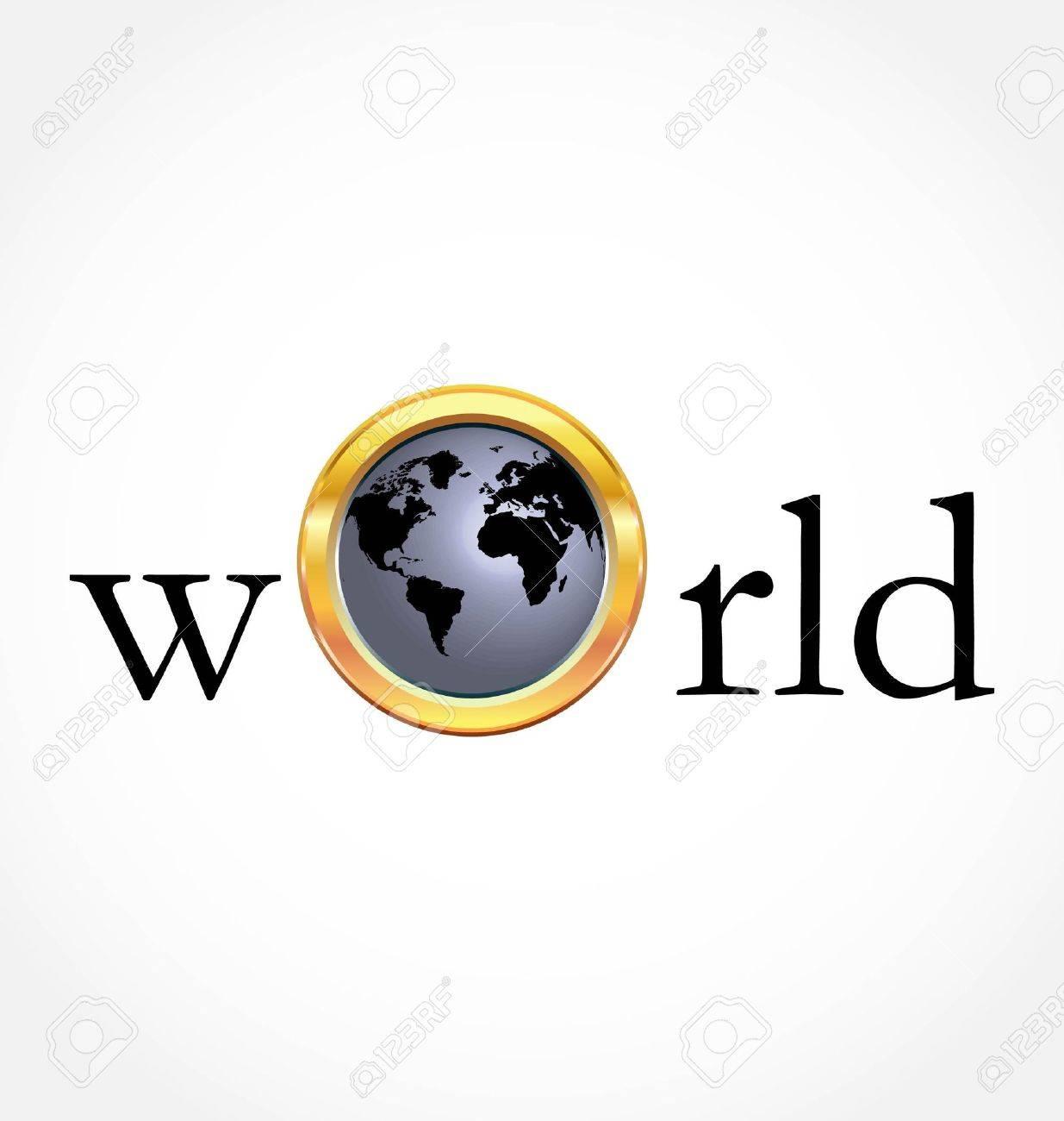 World globe Stock Vector - 9315271