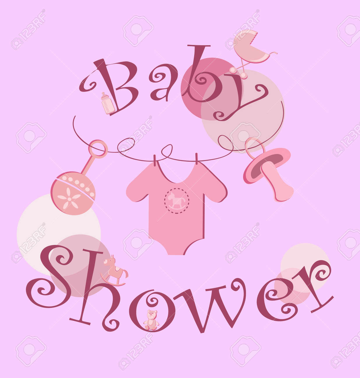 Shower Icon Vector Vector Background Baby Icons