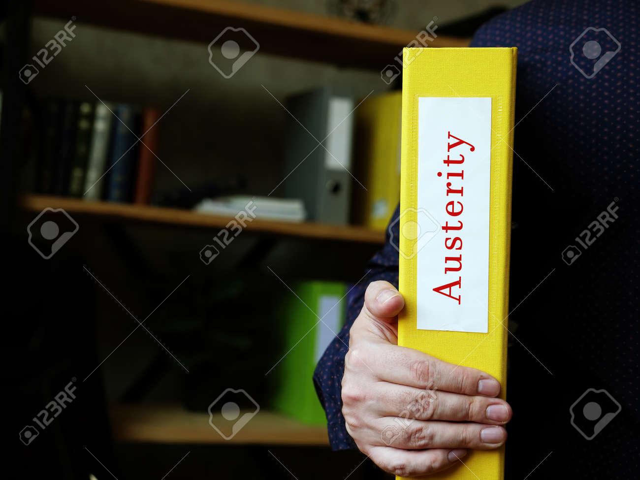 Business concept about Austerity with inscription on the page. - 161691153