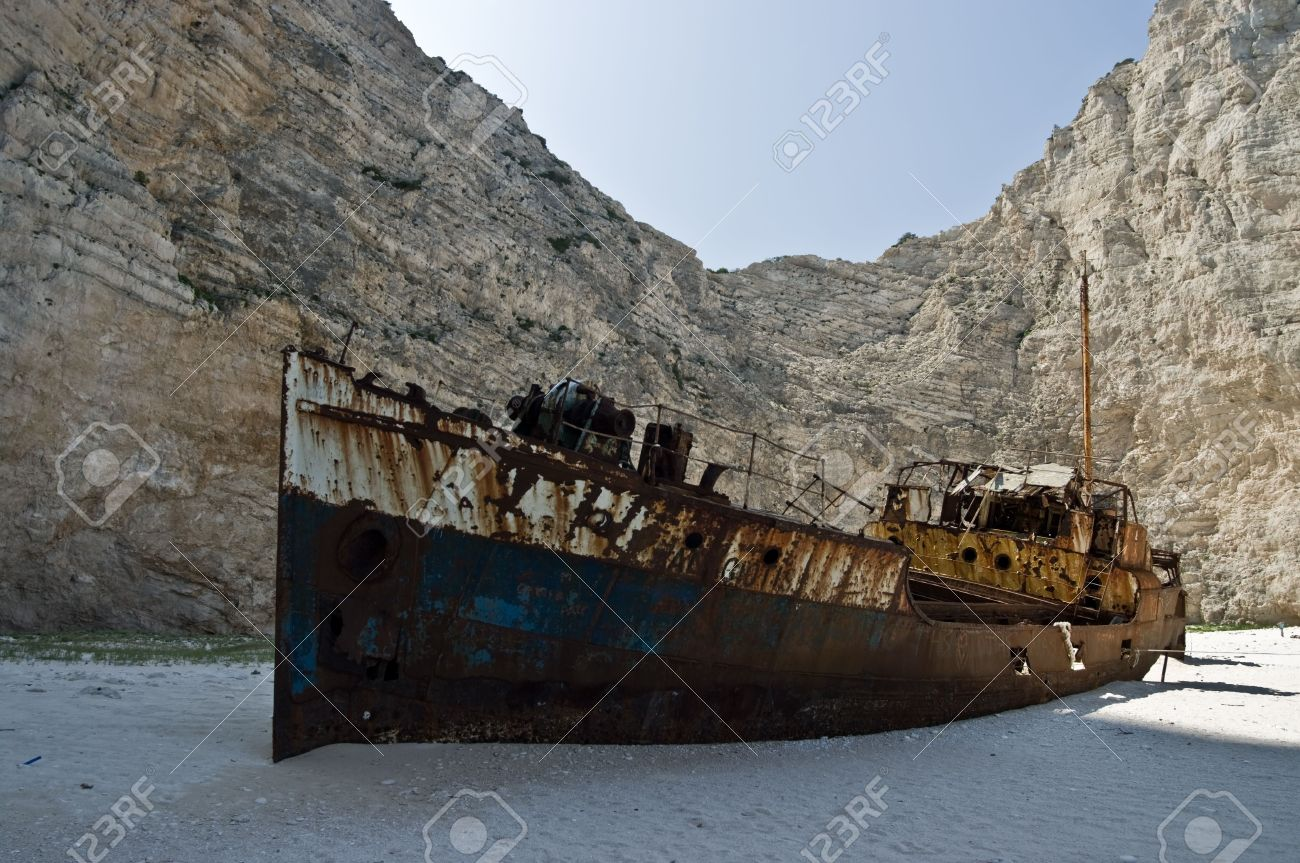 Navagio Beach Or The Shipwreck Bay An Isolated Sandy Cove Image Source From This