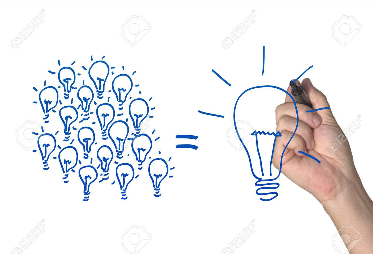 Many small ideas make a big one Stock Photo - 10558111